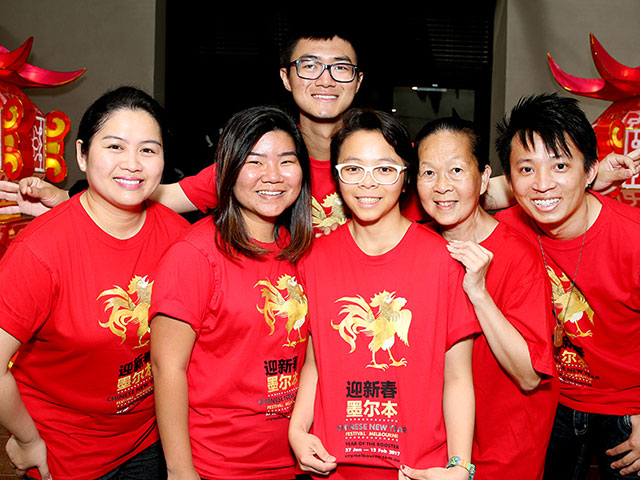 volunteer students at Chinese New Year