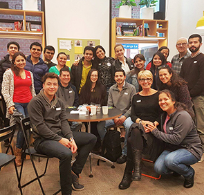 Group shot of people at the Study Melbourne Student Centre